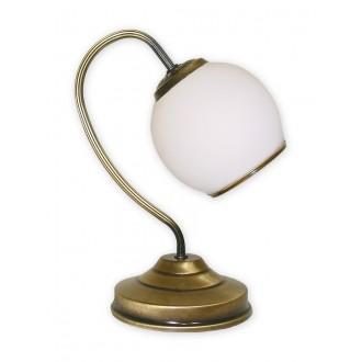 LEMIR 288/L1 | Rodos Lemir stolna svjetiljka 32cm sa prekidačem na kablu 1x E27 bronca, bijelo
