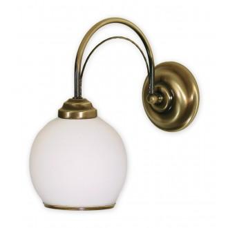 LEMIR 330/K1 | Koral Lemir zidna svjetiljka 1x E27 bronca, bijelo