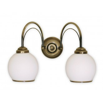 LEMIR 331/K2 | Koral Lemir zidna svjetiljka 2x E27 bronca, bijelo