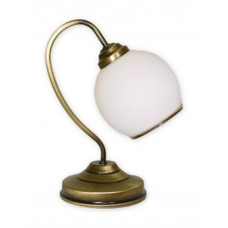 LEMIR 338/L1   Koral Lemir stolna svjetiljka 32cm sa prekidačem na kablu 1x E27 bronca, bijelo