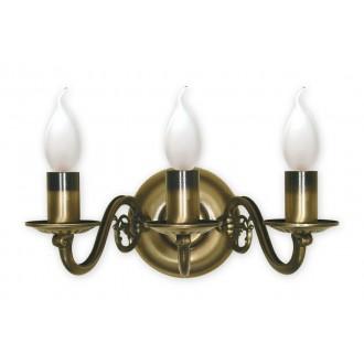 LEMIR 382/K3 | Swiecznik Lemir zidna svjetiljka 3x E14 bronca