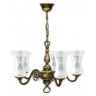 LEMIR 425/W5 | RetroPlus Lemir luster svjetiljka 5x E14 bronca, bijelo