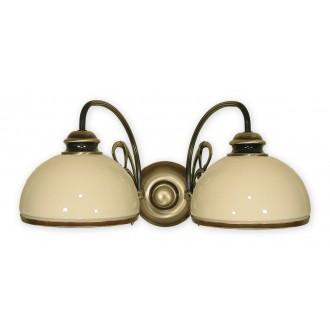 LEMIR 511/K2   Delta Lemir zidna svjetiljka 2x E27 bronca, krem