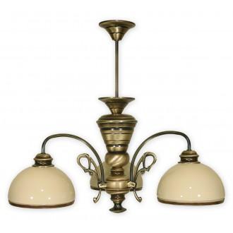 LEMIR 513/W3 | Delta Lemir luster svjetiljka 3x E27 bronca, krem