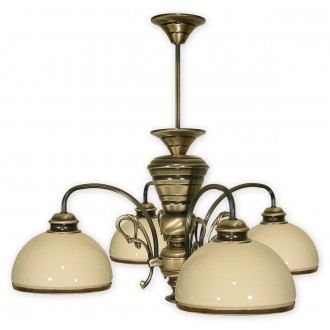 LEMIR 514/W4 | Delta Lemir luster svjetiljka 4x E27 bronca, krem