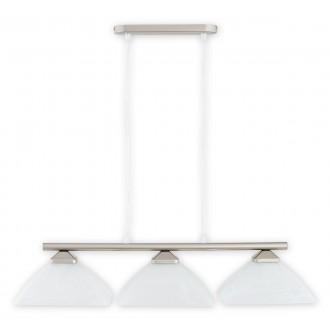 LEMIR 973LP/W3 SAT | Krzyzak Lemir visilice svjetiljka s mogućnošću skraćivanja kabla 3x E27 kromni mat, bijelo
