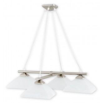 LEMIR 974LS/W4 SAT | Krzyzak Lemir visilice svjetiljka s mogućnošću skraćivanja kabla 4x E27 kromni mat, bijelo