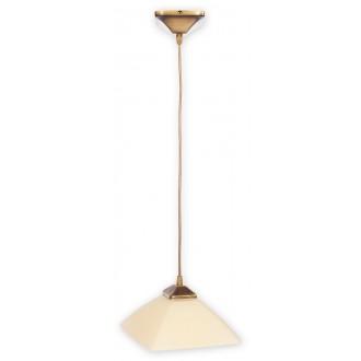 LEMIR 977/W1 | Krzyzak Lemir visilice svjetiljka s mogućnošću skraćivanja kabla 1x E27 bronca, krem