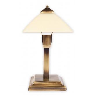 LEMIR 978MK/L1 | Krzyzak Lemir stolna svjetiljka 40cm sa prekidačem na kablu 1x E27 bronca, krem