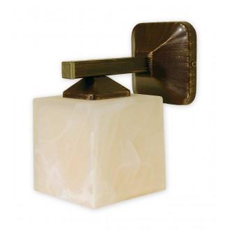 LEMIR O1060/K1 BR | KostkaBR Lemir zidna svjetiljka 1x E27 smeđe, antik zlato , krem