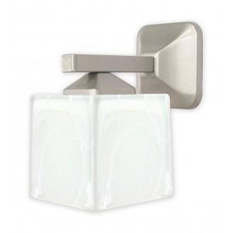 LEMIR O1060/K1 SAT | KostkaSAT Lemir zidna svjetiljka 1x E27 kromni mat, alabaster