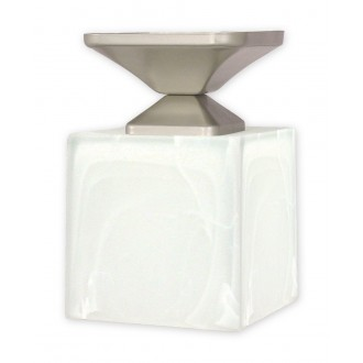 LEMIR O1061/W1 SAT | KostkaSAT Lemir stropne svjetiljke svjetiljka 1x E27 kromni mat, saten