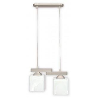 LEMIR O1062/W2 SAT | KostkaSAT Lemir visilice svjetiljka 2x E27 kromni mat, alabaster