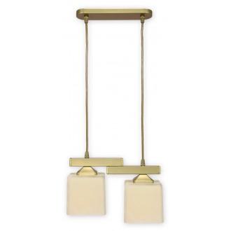 LEMIR O1062/W2 ZL | KostkaZL Lemir visilice svjetiljka 2x E27 zlatno, krem
