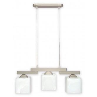 LEMIR O1063/W3 SAT | KostkaSAT Lemir visilice svjetiljka s mogućnošću skraćivanja kabla 3x E27 kromni mat, saten