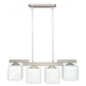 LEMIR O1064/W4 SAT | KostkaSAT Lemir visilice svjetiljka 4x E27 kromni mat, alabaster