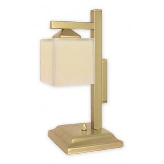 LEMIR O1068D/L1 ZL | KostkaZL Lemir stolna svjetiljka 40cm sa prekidačem na kablu 1x E27 zlatno, krem