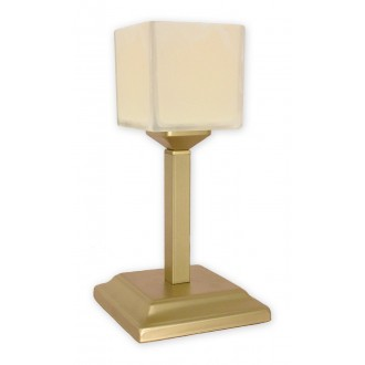 LEMIR O1068G/L1 ZL | KostkaZL Lemir stolna svjetiljka 35cm sa prekidačem na kablu 1x E27 zlatno, krem