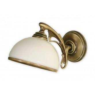 LEMIR O1130/K1 | HektorL Lemir zidna svjetiljka 1x E27 bronca, bijelo