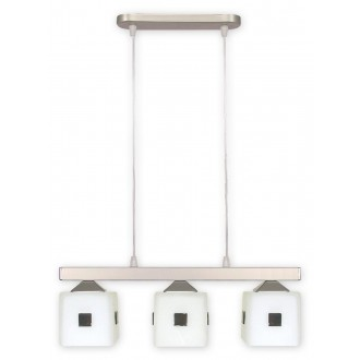 LEMIR O1183/W3 SAT   Morfeusz Lemir visilice svjetiljka 3x E27 kromni mat, bijelo
