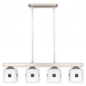LEMIR O1184/W4 SAT   Morfeusz Lemir visilice svjetiljka 4x E27 kromni mat, bijelo