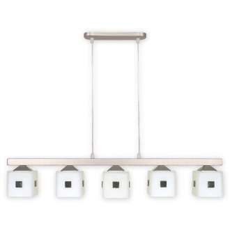 LEMIR O1185/W5 SAT   Morfeusz Lemir visilice svjetiljka 5x E27 kromni mat, bijelo