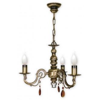 LEMIR O1313/W3 | Antares Lemir luster svjetiljka 3x E14 bronca