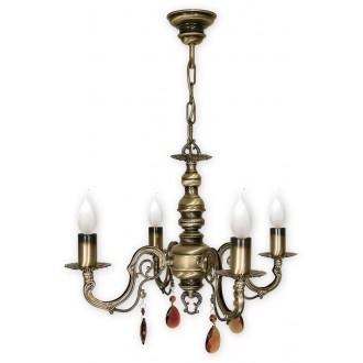 LEMIR O1314/W4 | Antares Lemir luster svjetiljka 4x E14 bronca