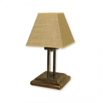 LEMIR O1368 OLZ | HorusL Lemir stolna svjetiljka 38cm s poteznim prekidačem 1x E27 bronca
