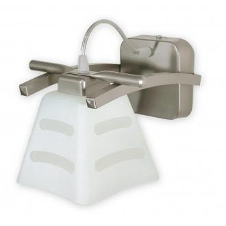 LEMIR O1410 SAT | Dipol Lemir zidna svjetiljka 1x E27 poniklano mat, bijelo