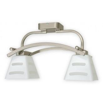 LEMIR O1412P SAT | Dipol Lemir stropne svjetiljke svjetiljka 2x E27 poniklano mat, bijelo