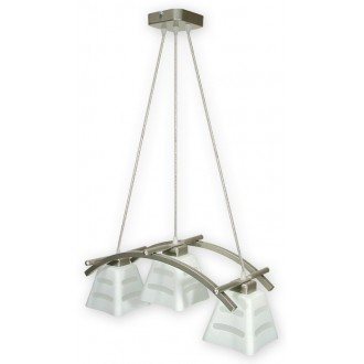 LEMIR O1413 SAT | Dipol Lemir visilice svjetiljka 3x E27 poniklano mat, bijelo