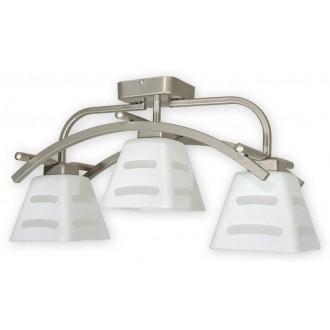 LEMIR O1413P SAT | Dipol Lemir stropne svjetiljke svjetiljka 3x E27 poniklano mat, bijelo