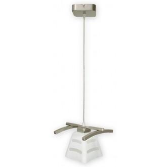 LEMIR O1417 SAT | Dipol Lemir visilice svjetiljka 1x E27 poniklano mat, bijelo