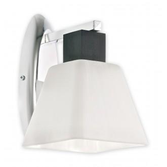 LEMIR O1470 WG | Dreno Lemir zidna svjetiljka 1x E27 krom, venga, bijelo