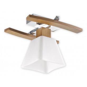LEMIR O1471 DB | Dreno Lemir stropne svjetiljke svjetiljka 1x E27 krom, boja hrasta, bijelo