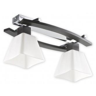 LEMIR O1472P WG | Dreno Lemir stropne svjetiljke svjetiljka 2x E27 krom, venga, bijelo