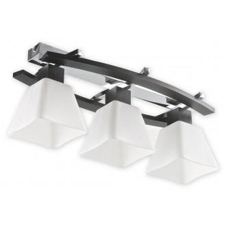 LEMIR O1473P WG | Dreno Lemir stropne svjetiljke svjetiljka 3x E27 krom, venga, bijelo