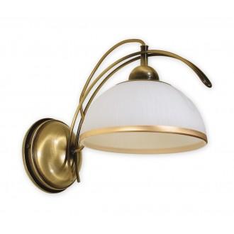 LEMIR O1480 PAT | FlexL Lemir zidna svjetiljka 1x E27 bronca, bijelo