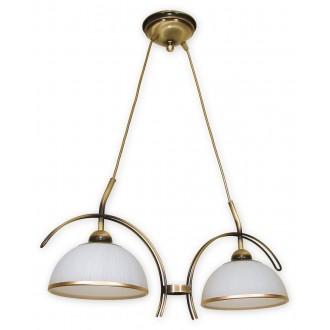 LEMIR O1482 PAT | FlexL Lemir visilice svjetiljka 2x E27 bronca, bijelo