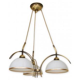 LEMIR O1483 PAT | FlexL Lemir luster svjetiljka 3x E27 bronca, bijelo