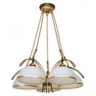 LEMIR O1485 PAT | FlexL Lemir luster svjetiljka 5x E27 bronca, bijelo