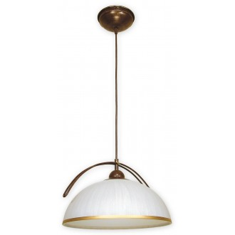 LEMIR O1487 BR | FlexL Lemir visilice svjetiljka 1x E27 smeđe, antik zlato , bijelo