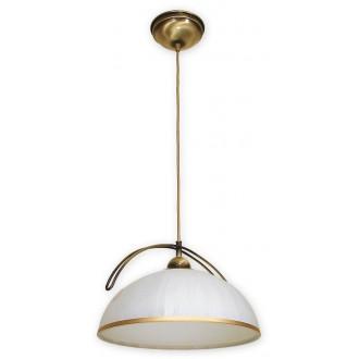 LEMIR O1487 PAT | FlexL Lemir visilice svjetiljka 1x E27 bronca, bijelo