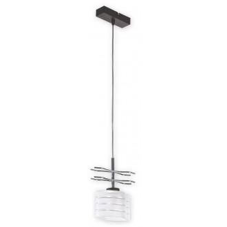 LEMIR O1517 RW | Kobra Lemir visilice svjetiljka 1x E27 krom, antik venga, opal