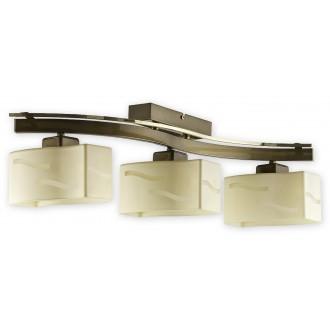 LEMIR O1603 ZP | SonaRega Lemir stropne svjetiljke svjetiljka 3x E27 lašteni bakar, zlatni sedef