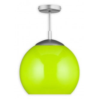 LEMIR O1836 W1 K_4 | Kule Lemir stropne svjetiljke svjetiljka 1x E27 poniklano mat, zeleno