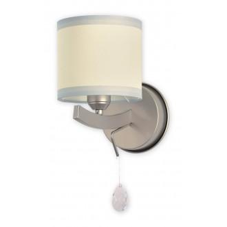 LEMIR O1860 SAT   Konek Lemir zidna svjetiljka 1x E27 krom saten, krem, prozirno