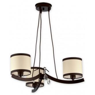 LEMIR O1863 RW   Konek Lemir luster svjetiljka 3x E27 antik venga, krem, prozirno