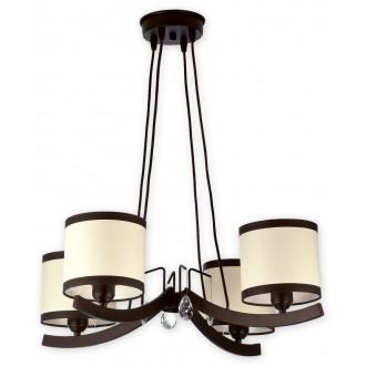 LEMIR O1864 RW   Konek Lemir luster svjetiljka 4x E27 antik venga, krem, prozirno